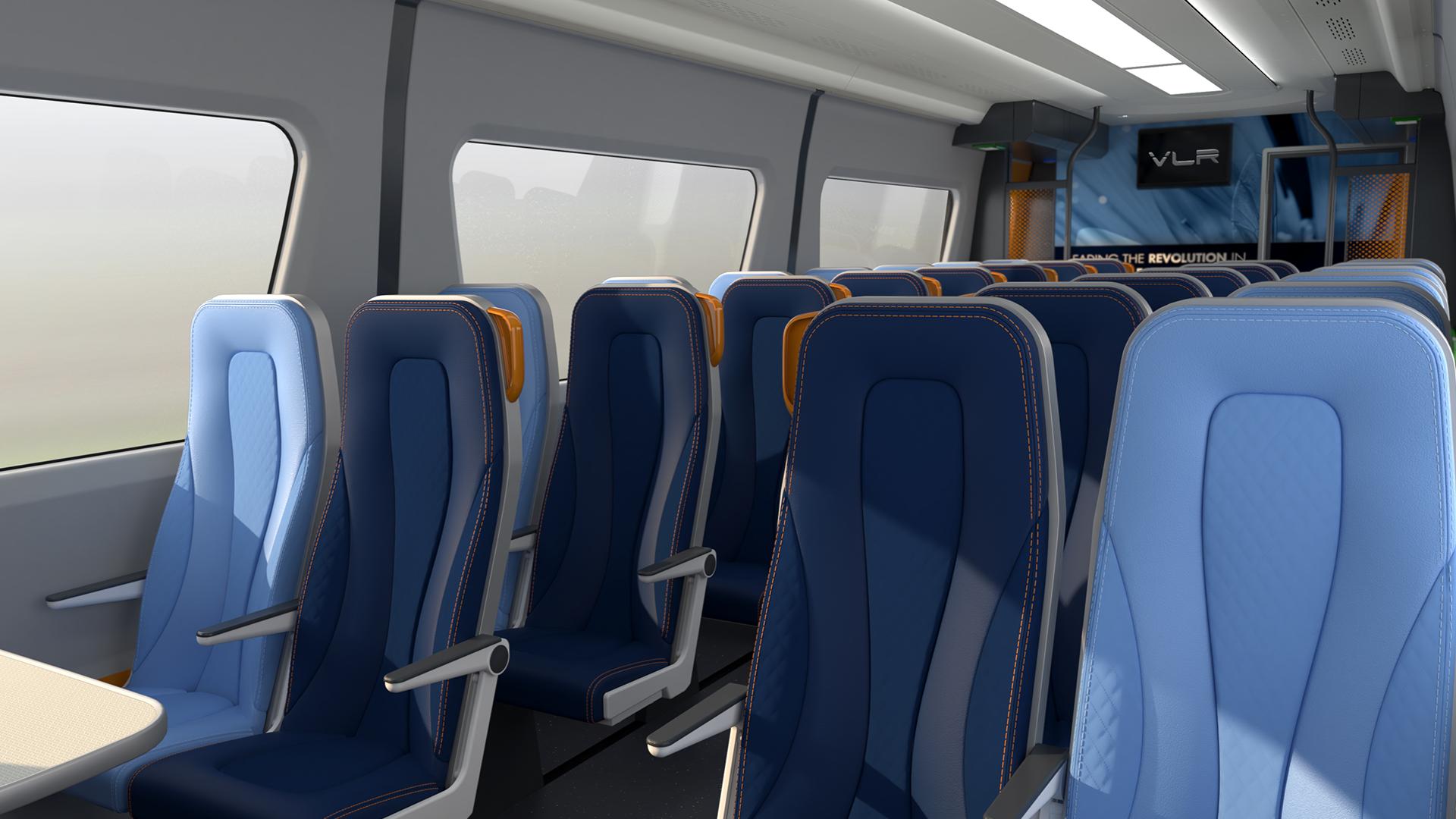Interior of revolution VLR train